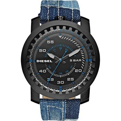 b481379636b Relógio Diesel Rig Masculino Preto Jeans DZ1748 - My Time