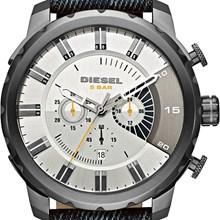 Relógio Diesel Stronghold Masculino Cronógrafo Couro Jeans DZ4345