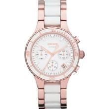 Relógio Dkny Ceramic Feminino Cronógrafo Rose Branco NY8504