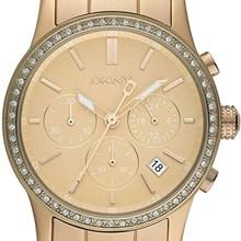 Relógio Dkny Feminino Cronógrafo Dourado NY8364