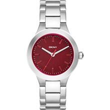 Relógio Dkny Feminino Prata Vermelho NY2387
