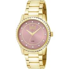 Relógio Dumont Feminino Dourado Rosa DU2035LQC/4T