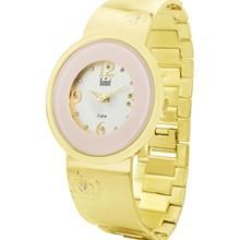 Relógio Dumont Feminino Dourado Rosa SX85294H