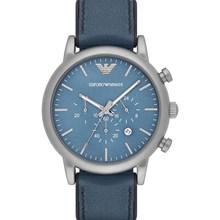Relógio Emporio Armani Masculino Couro Azul AR1969