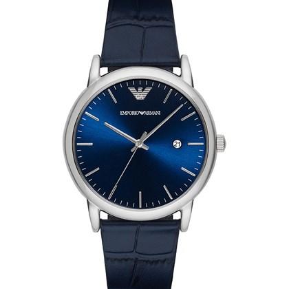 b008d95ea92 Relógio Emporio Armani Masculino Couro Azul AR2501 - My Time