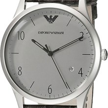 Relógio Emporio Armani Masculino Couro Cinza AR1880