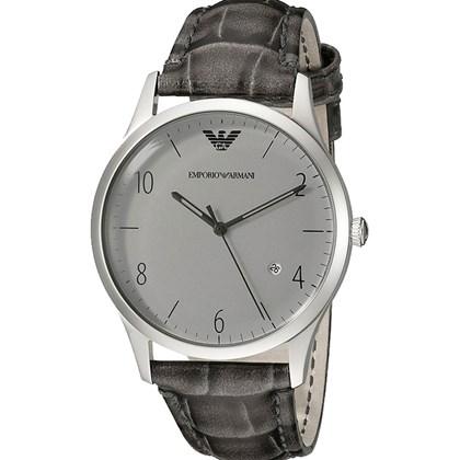 bedfc8d00 Relógio Emporio Armani Masculino Couro Cinza AR1880 - My Time