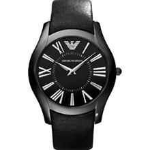 Relógio Emporio Armani Masculino Couro Preto AR2059