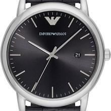 Relógio Emporio Armani Masculino Couro Preto AR2500