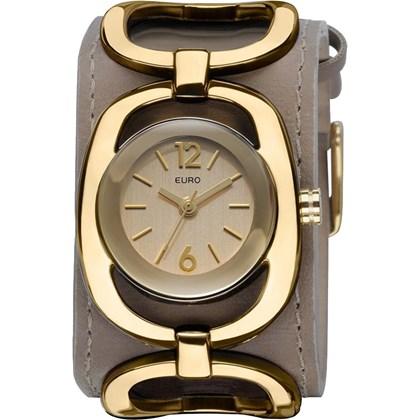 c27efd7b37 Relógio Euro Feminino Couro Marrom EU2035II 2X - My Time