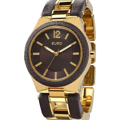 5747e8e12a4 Relógio Euro Feminino Dourado Marrom Eu2035Lvh 4C - My Time