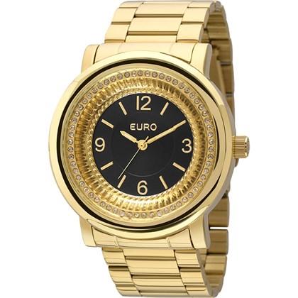 4dcd1c98980 Relógio Euro Feminino Dourado Preto EU2035YDW 4P - My Time