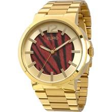 Relógio Euro Feminino Dourado Safari Vermelho EU2036LYK/4R