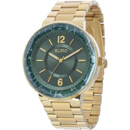2e2eb1f53eb Relógio Euro Feminino Dourado Verde EU2035XZI 4V - My Time