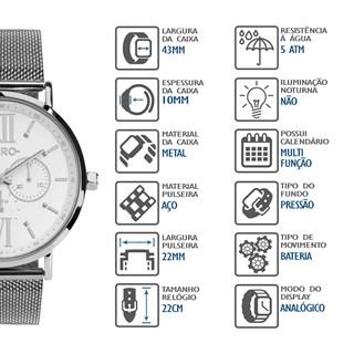 Relógio Euro Feminino Multifunção EU6P29AHFBPS/3K