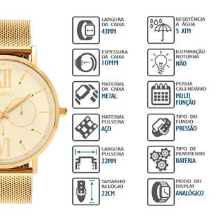 Relógio Euro Feminino Multifunção EU6P29AHTS/4D