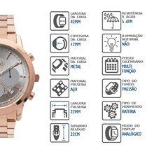 Relógio Euro Feminino Multifunção EUJP25AB/4C