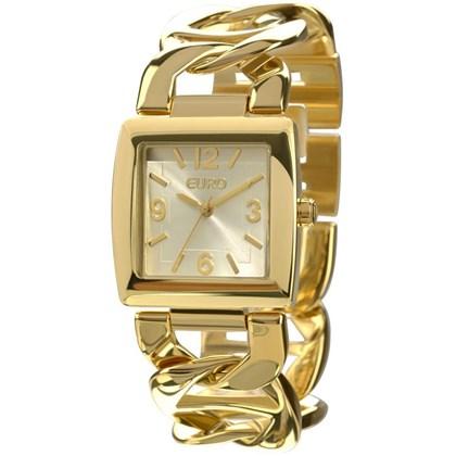 006d03b8f22 Relógio Euro Feminino Quadrado Dourado EU2035XYC 2P - My Time