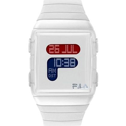 Relógio Fila Digital Quadrado Branco 38-105-001