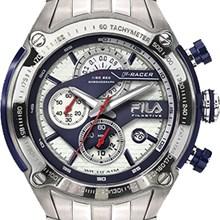 Relógio Fila Masculino Cronógrafo Prata Azul 38-104-003