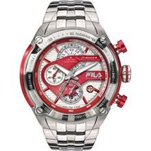 Relógio Fila Masculino Cronógrafo Prata Vermelho 38-104-002