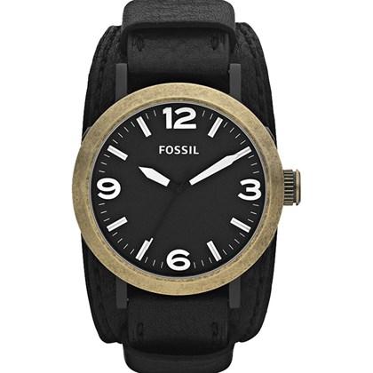 1d99813e8a8 Relógio Fossil Clyde Masculino Couro Preto JR1367 - My Time