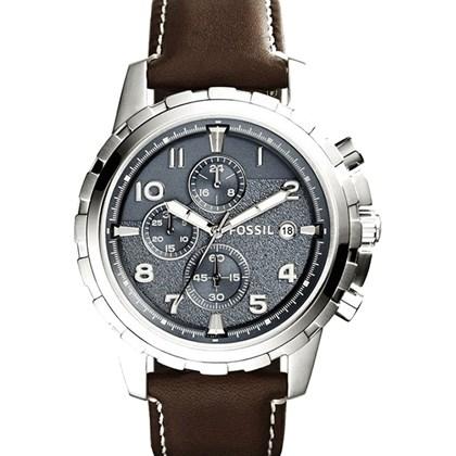 f24ab29473a Relógio Fossil Dean Masculino Cronógrafo Cinza FS5022 - My Time