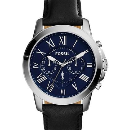 d130effcbc6 Relógio Fossil Grant Masculino Cronógrafo Couro Azul FS4990 - My Time