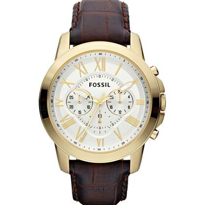 8fe2fd57fe0 Relógio Fossil Grant Masculino Cronógrafo Couro FS4767 - My Time