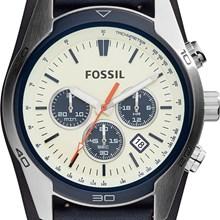 Relógio Fossil Masculino Cronógrafo Couro Azul CH3051