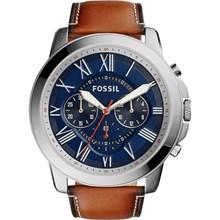 Relógio Fossil Masculino Cronógrafo Couro Azul FS5210