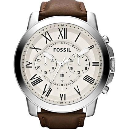 760404b7ab0 Relógio Fossil Masculino Cronógrafo Couro Branco FS4735 - My Time