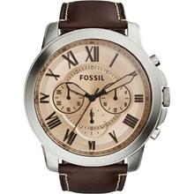 Relógio Fossil Masculino Cronógrafo Couro Marrom FS5152