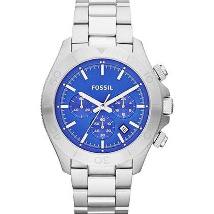 574bf2c51c5 Relógio Fossil Retro Traveler Masculino Cronógrafo Azul CH2894 - My Time