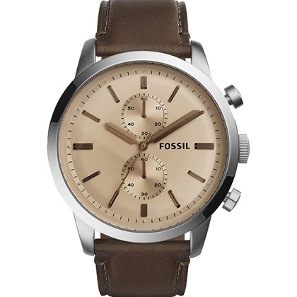 01ac2cac126 Relógio Fossil Townsman Masculino Cronógrafo Marrom FS5156 - My Time