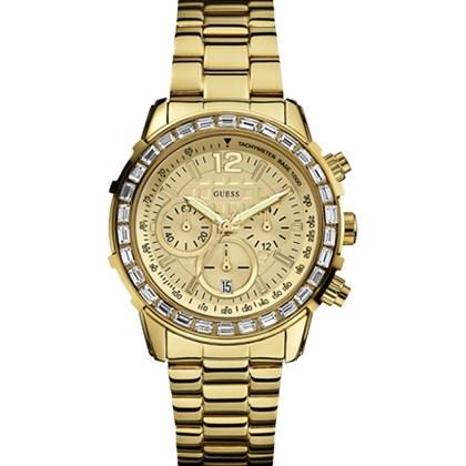b59a35354e9 Relógio Guess Feminino Cronógrafo Dourado 92473LPGSDA2 - My Time