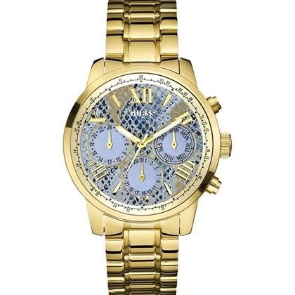 ed21ceb1487 Relógio Guess Feminino Dourado Azul 92521LPGSDA3 - My Time