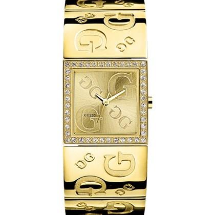 34a10616bcd Relógio Guess Feminino Dourado Quadrado 92138LPGLDA2 - My Time