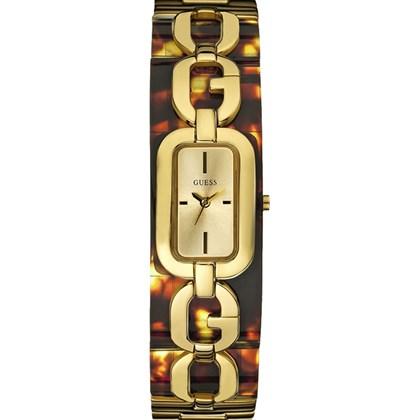 a9d8ff307da Relógio Guess Feminino Dourado Quadrado 92442LPGLDU2 - My Time