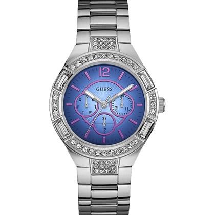 31737162cf2 Relógio Guess Feminino Prata Azul 92603L0GSNA1 - My Time