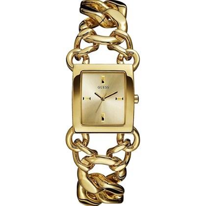 d4ea04db145 Relógio Guess Feminino Quadrado Dourado 92530LPGTDA1 - My Time