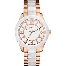 Relógio Guess Feminino Rose Branco 92469LPGSRA3