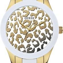 Relógio Guess Feminino Safari Dourado Branco 92514LPGSDA1