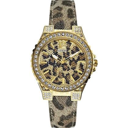 1fb827bfe8e Relógio Guess Feminino Safari Dourado Cinza 92452LPGSDC6 - My Time