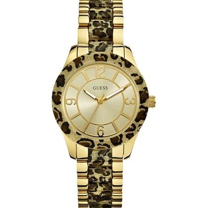 e999962fd7f Relógio Guess Feminino Safari Dourado Preto 92469LPGSDA1 - My Time