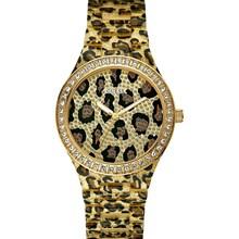 Relógio Guess Feminino Safari Dourado Preto 92483L0GSNP1