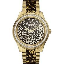Relógio Guess Feminino Safari Dourado Preto 92538LPGSDA1