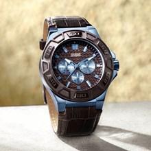Relógio Guess Masculino Azul Marrom 92587GPGSEC4