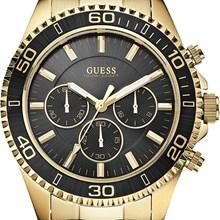 Relógio Guess Masculino Cronógrafo Dourado Preto 92487GPGSDA2