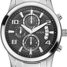 Relógio Guess Masculino Cronógrafo Prata Preto 92466G0GDNA2